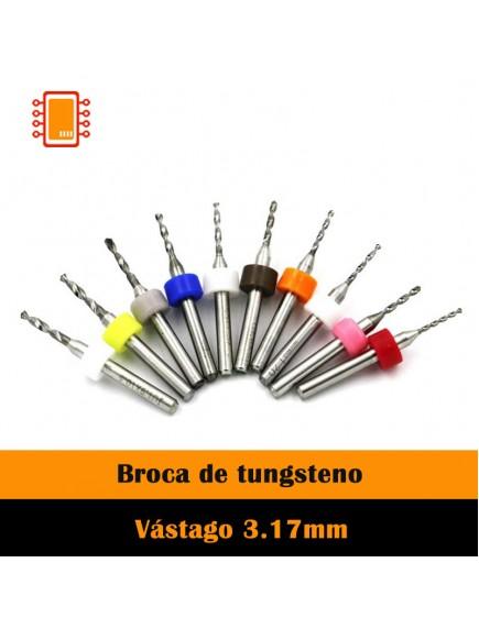 Broca para PCB una pieza (varios diámetros)