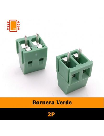 Bornera verde de 2 o 3 terminales