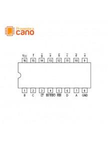 74LS47 Decodificador BCD 7 Segmentos 74LS47