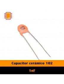 Capacitor cerámico 102 1nF