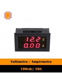 Voltímetro / Ampérmetro Digital 100vdc/ 50A Arduino