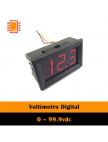 Voltímetro Digital 0 – 99.9vdc