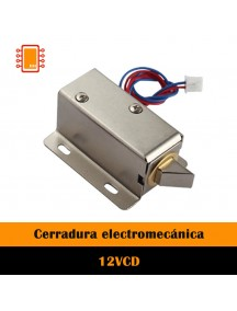Cerradura eléctrica con solenoide 12V DC
