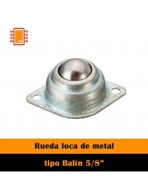 """Rueda loca de metál 5/8"""""""