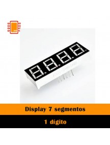 Display 7 segmentos crojo (4 dígitos)