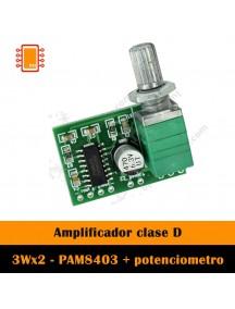 Amplificador de Audio PAM8403 con Potenciómetro