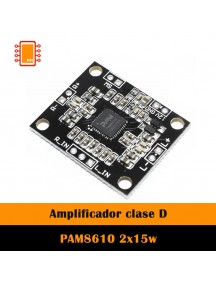 Amplificador Clase D 2x15w Pam8610