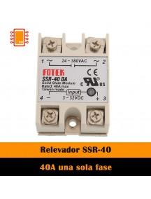 Relevador de estado sólido 40A una Fase