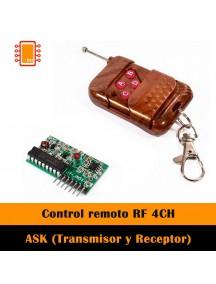 Módulo ASK (Transmisor y Receptor), control remoto RF