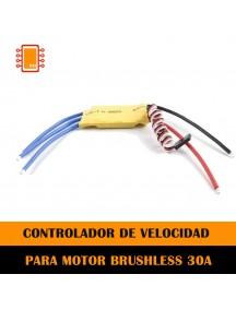 Controlador de velocidad electrónico ESC 30A Multi Axis para Brushless