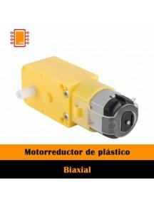 Motorreductor amarillo de plástico biaxial