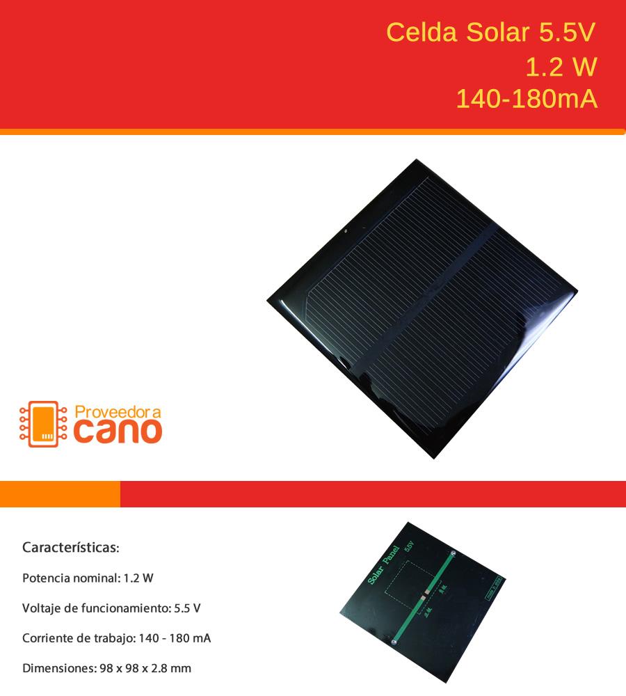 Celda Solar 5 5v 1 2w 106 00 En Mercado Libre